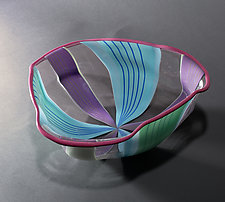 Triangular Bowl by Tyler Kimball (Art Glass Bowl)