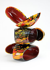 Fire-Kissed Remnant Sculpture by Justin Hunting (Art Glass Sculpture)