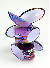 Remnant Sculpture in Sunset Amethyst by Justin Hunting (Art Glass Sculpture)