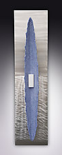 Blue Beached by Kevin Lubbers (Art Glass Wall Sculpture)