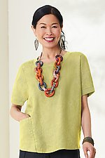 Lucia Top by Lisa Bayne  (Linen Top)