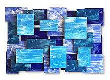 Cascade II by Karo Martirosyan (Art Glass Wall Sculpture)