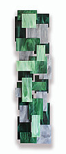 Malachite TT by Karo Martirosyan (Art Glass Wall Sculpture)