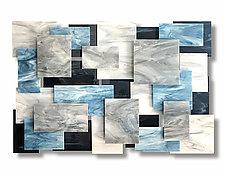 Extra Large Arctic Accent Piece by Karo Martirosyan (Art Glass Wall Sculpture)