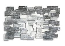 Monochrome by Karo Martirosyan (Art Glass Wall Sculpture)