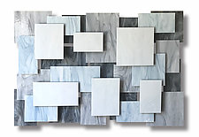 Glacial Accent Piece by Karo Martirosyan (Art Glass Wall Sculpture)