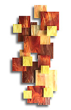 Sunset 2 by Karo Martirosyan (Art Glass Wall Sculpture)