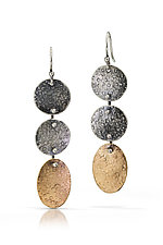 Silver and Gold Eve Dangles by Susie Aoki (Gold & Silver Earrings)