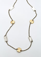 Sun Chain Necklace by Susie Aoki (Gold & Silver Necklace)