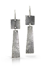 Pyramid Dangle Earrings by Susie Aoki (Silver Earrings)