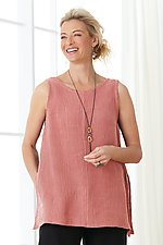 Long Flutter Tank by Go Lightly (Woven Top)