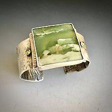 Spring Cuff by Kim  Wilson (Silver & Stone Bracelet)