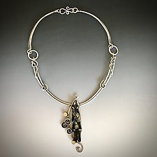 Nature Pendant by Kim  Wilson (Gold, Silver & Stone Necklace)