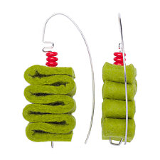 Corrugated Felt Earrings by Linda May (Felt Earrings)