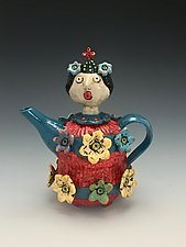 Queen of the Tea by Lilia Venier (Ceramic Teapot)