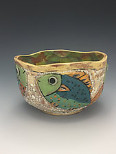 Tropical Waters II by Lilia Venier (Ceramic Bowl)