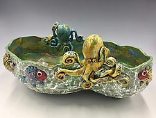 Rivals for the Ocean Kingdom by Lilia Venier (Ceramic Bowl)