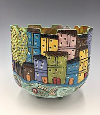 Sorrento V by Lilia Venier (Ceramic Bowl)