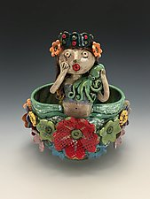 Queen Leticia Mermaid Bowl by Lilia Venier (Ceramic Bowl)