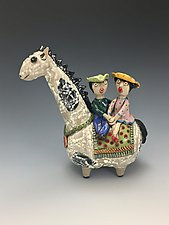 Evening Ride by Lilia Venier (Ceramic Sculpture)