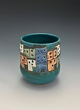 Long Beach Vase by Lilia Venier (Ceramic Vase)