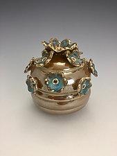 Gold Jar by Lilia Venier (Ceramic Jar)