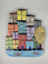 Burano, Italy I by Lilia Venier (Ceramic Wall Sculpture)
