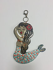 Conchita Mermaid Tile by Lilia Venier (Ceramic Wall Sculpture)