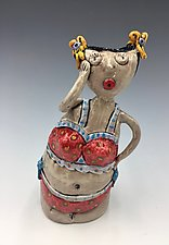 Girl with the Polka Dot Bikini by Lilia Venier (Ceramic Jar)