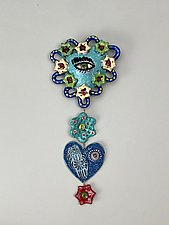 Heart Set on Something III by Lilia Venier (Ceramic Wall Sculpture)