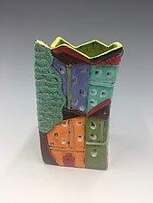Toledo II Small Vase by Lilia Venier (Ceramic Vase)