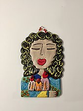 Teresa by Lilia Venier (Ceramic Wall Sculpture)