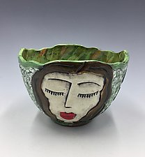 Mediation Time VI by Lilia Venier (Ceramic Bowl)