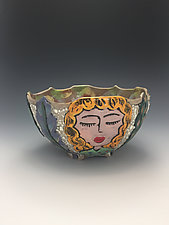 High School Friends VII by Lilia Venier (Ceramic Bowl)