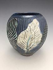 Black Forest Raku Vase by Lilia Venier (Ceramic Vase)