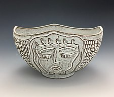 High School Friends V by Lilia Venier (Ceramic Bowl)