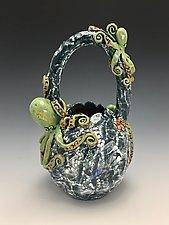 Octopus Discussion Vase by Lilia Venier (Ceramic Vase)