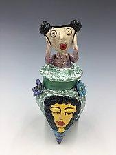 What's Going On, Girls by Lilia Venier (Ceramic Jar)