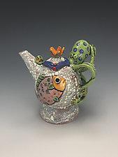 Pulpo y Amigos I by Lilia Venier (Ceramic Teapot)