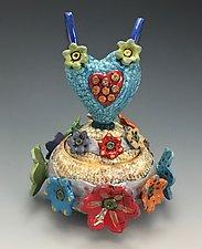 Heavenly Love II by Lilia Venier (Ceramic Jar)