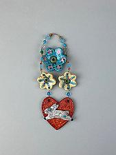 Bunny Love by Lilia Venier (Ceramic Wall Sculpture)