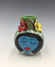 Three Good Friends by Lilia Venier (Ceramic Vase)