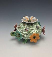 Tortoise Candleholder by Lilia Venier (Ceramic Candleholder)
