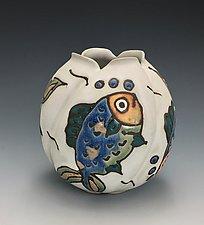 Quatro Amigos Vase by Lilia Venier (Ceramic Vase)
