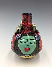 At Peace with Nature by Lilia Venier (Ceramic Vase)