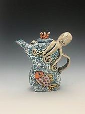 Pulpo y Amigos II by Lilia Venier (Ceramic Teapot)