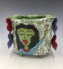Happy Hour Girls by Lilia Venier (Ceramic Vase)