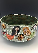 Deep Ocean Celebration Bowl by Lilia Venier (Ceramic Bowl)