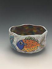 Tropical Waters I by Lilia Venier (Ceramic Bowl)