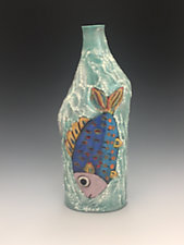Two Fish Vase by Lilia Venier (Ceramic Vase)